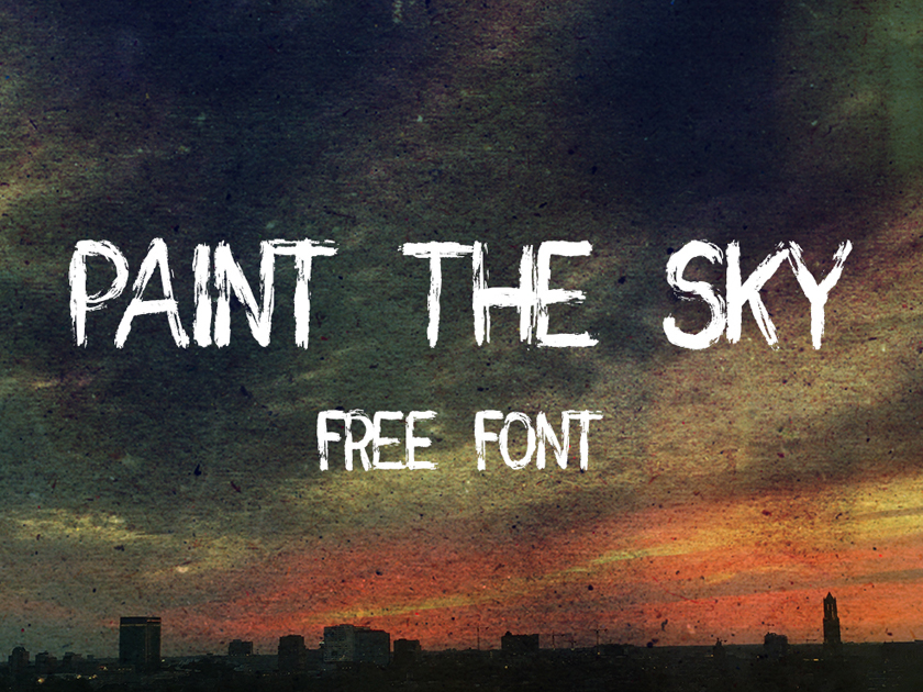 Free Paint the Sky Handwritten Brush Font