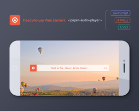 Audio player in paper style