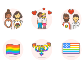 240 Free LGBT Illustrations