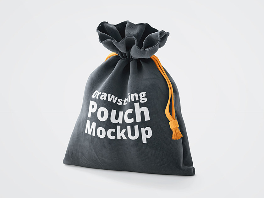 3D Drawstring Pouch Mockup