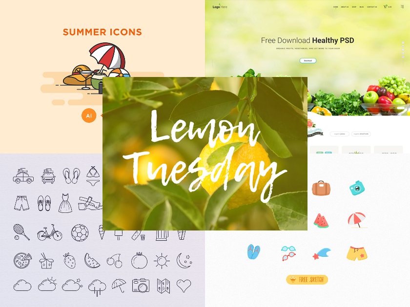 Summer Freebies – Super Hot Icons, Fonts, and Templates